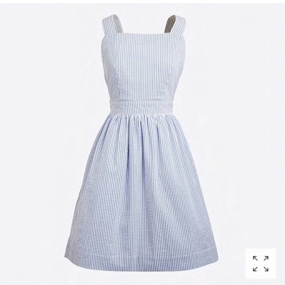j crew factory seersucker dress